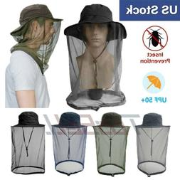 Mosquito Net Hat Head Face Protector Sun Insect Bee Bug Fly