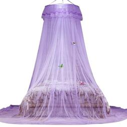 Mosquito Net Princess Round Dome Canopy Bedding Curtain With