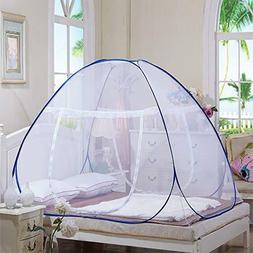 2x Mosquito Net Tent for Beds Folding Design with Net Bottom