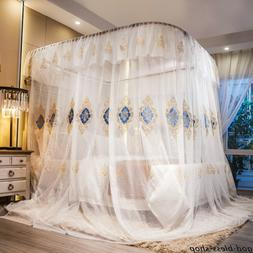 mosquito net with U shaped rail firm frame embroidered netti