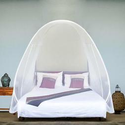 Naturals Pop Up Mosquito Net Tent, Large for Twin to King Si