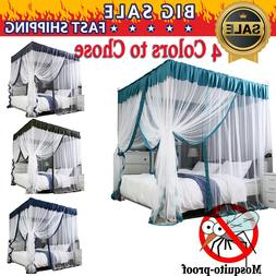 NEW 4 Corners Post Royal Luxurious Cozy Drapes Bed Canopy Be