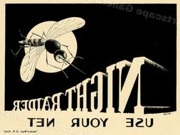 """""""Night Raider! Mosquito! Use Your Net"""" 1940s South Pacific W"""