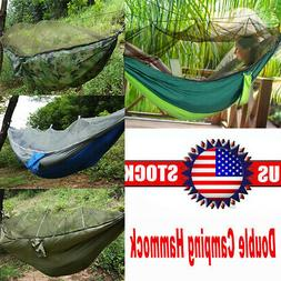 Nylon Double Person Hammock Tent with Mosquito Net for Campi