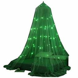 OctoRose Glow in The Dark Star Bed Canopy Mosquito Net  Fits