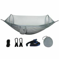 Outdoor Furniture Hammock Swing With Mosquito Net Dyed Fabri