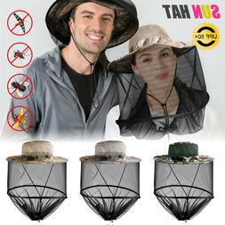 Outdoor Mosquito Head Face Net Hat Sun Bee Insect Bug Protec