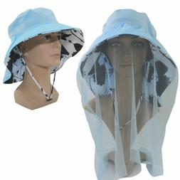 Outdoor Mosquito Head Net Hat Sun Hat with Mesh Face Mask Pr