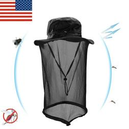 Outdoor Mosquito Head Net Hat with Mesh Face Mask Protection