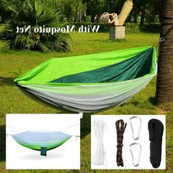 Outdoor Travel Camping Hanging Hammock Bed With 2 Hooks Stri