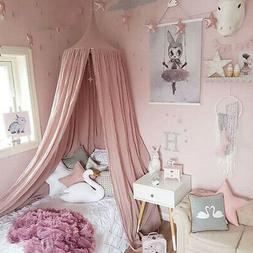 Pink Bed Canopy Mosquito Net For Kids Baby Crib Princess Rou
