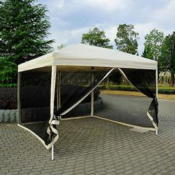 10'x10' Outdoor Pop Up Party Tent Patio Gazebo Canopy Mosqui