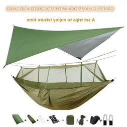 Portable Camping Hammock with Mosquito Net and Rain Fly Tarp