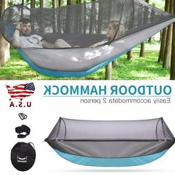 Portable Double Hammock With Mosquito Net For Outdoor Travel