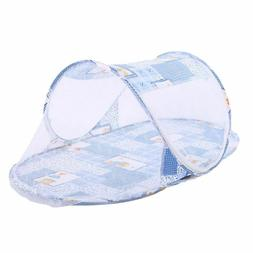 Portable Folding Mosquito Net Baby Pop Up Travel Bed Cartoon