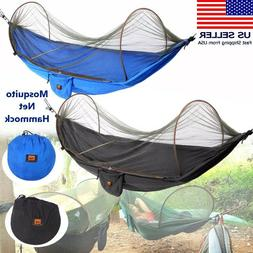 Portable Hammock with Mosquito Net Hanging Swing Bed Camping