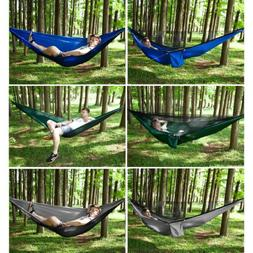 Portable Jungle Parachute Hammock With Mosquito Net Military