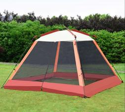 Portable Pop Up Tent Outdoor Cabin With Mosquito Netting Sun