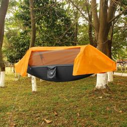 Portable Camping Hammock with Mosquito Net Rain Cover Waterp