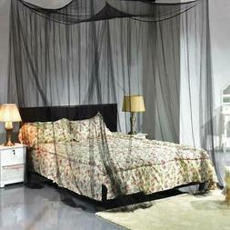 Post Bed Canopy Mosquito Net Full Queen King Size 4 Corner N