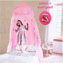 Princess Bed Canopy Mosquito Net for Girls Crib to Twin Lace