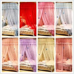 Round Mosquito Net Canopy Fly Insect Protect Netting For Sin