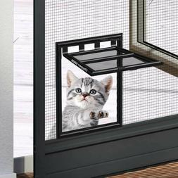 Cat flap for screen door - pet small dog fly screen frame mo