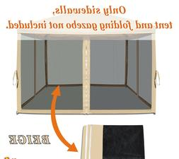 Mosquito Net Mesh Sidewalls for 10'x10' 8'x8' Pop Up Canopy