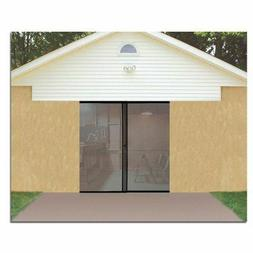 Single Garage Screen Door Magnetic Closure Weighted Bottom I