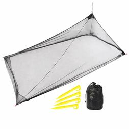 REDCAMP Single Triangle Pyramid Camping Mosquito Net for Sle
