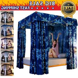 Thicken Mosquito-proof Light-proof 4 Corner Bed Curtain Cano