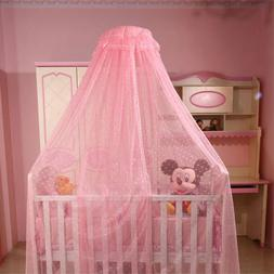 Toddler Crib Netting Hanging Dome Baby Mosquito Net with/wit