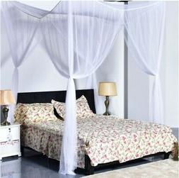 Top 4 Corner Post Bed Canopy Mosquito Net Full Queen King Si