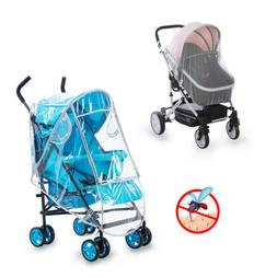 Universal Baby Stroller Rain Insect Cover Canopy Mosquito Ne