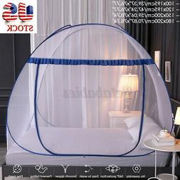 US Large Folding Mosquito Net Tent Canopy Curtains Outdoors