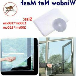 US Magnetic Window Mesh Curtain Snap Net Guard Mosquito Fly