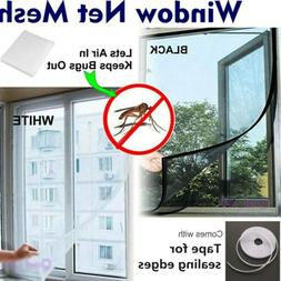 US Magnetic Window Mesh Door Curtain Snap Net Mosquito Fly I