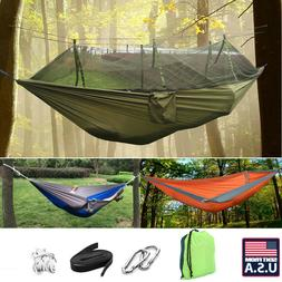 US NEW Portable Outdoor Camping Hammock Sleeping Hanging Bed