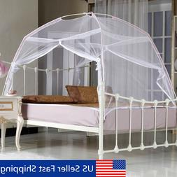 US White Portable Folding Mesh Insect Bed Canopy Dome Tent M