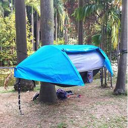 Waterproof Camping Hammock with Mosquito Net Rainfly and Bag
