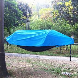 Waterproof Outdoor Camping Hammock with Mosquito Net Rainfly