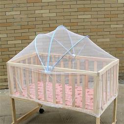 White Infant Baby Cradle Bed Canopy Mosquito Arched Net Todd