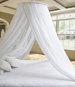 Stunning DREAMMA White Round Bed Canopy Mosquito Net Princes