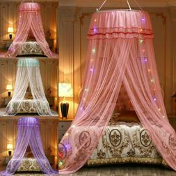 Lace Bed Mosquito Netting Mesh Canopy Princess Round Dome Be